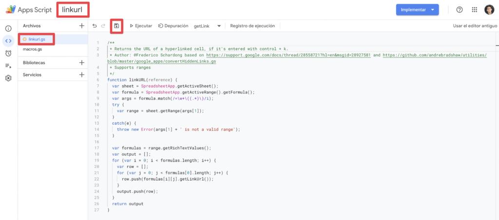 editor de secuencia de comandos